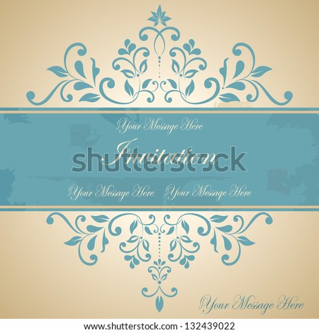 Beautiful floral invitation card/ eps10 - stock vector