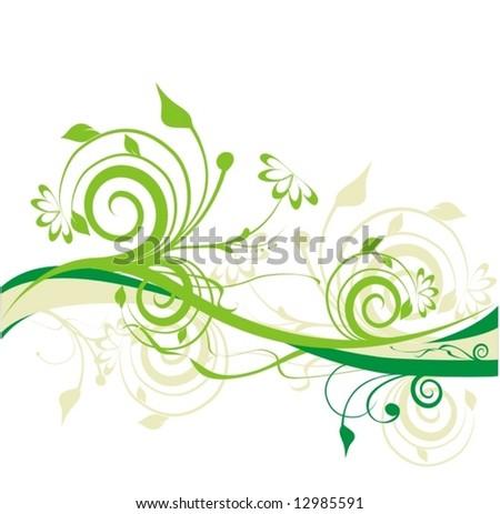 beautiful floral ornament - stock vector