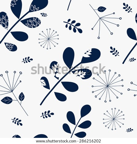 Beautiful floral seamless pattern. Vector fresh seamless pattern. Summer template for wallpaper,pattern fills, web page background, invitation card for wedding,wallpaper and textile. - stock vector