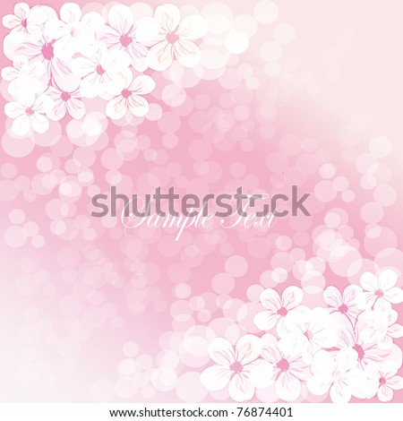 beautiful flower background - stock vector