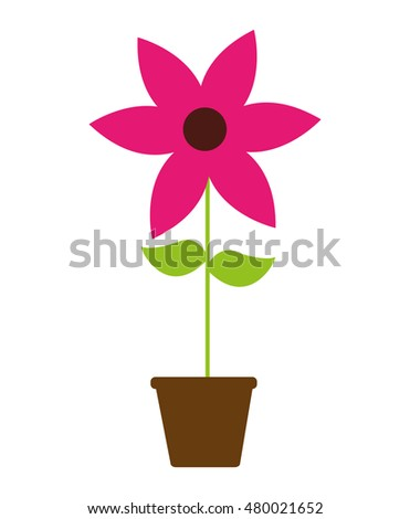 beautiful flower drawing isolated vector illustration design