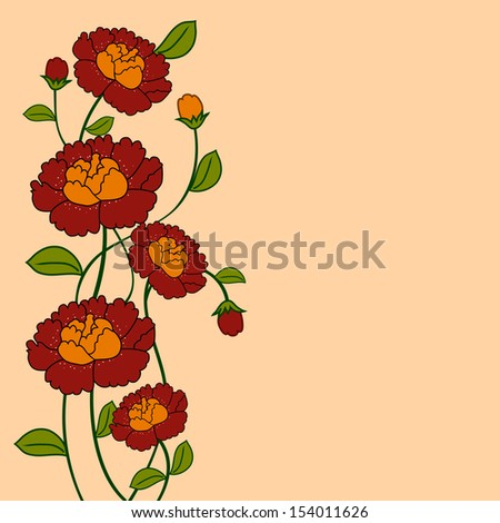 Beautiful flowers on abstract background.