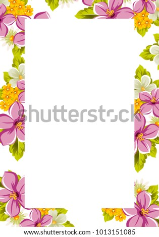 Beautiful Frames Your Text Flowers Design Stock Vector 1013151085 ...