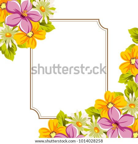 Beautiful Frames Your Text Flowers Design Stock Photo (Photo, Vector ...