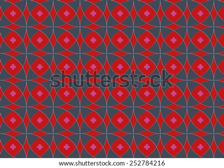 beautiful geometric seamless vector pattern. Can be used for textiles, accessories; decorative paper, stationery,  wrapping etc. Swatch for seamless pattern included. - stock vector