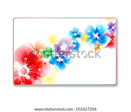 Beautiful gift card - stock vector