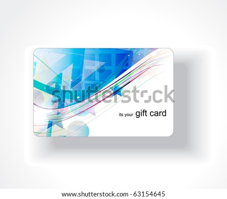 Beautiful gift card design, vector illustration. - stock vector