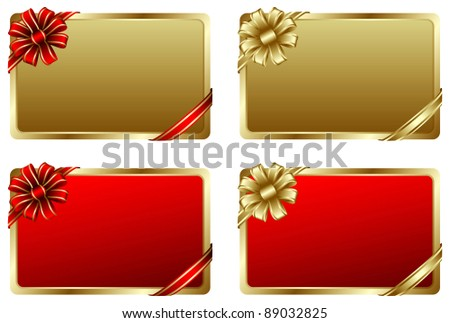 Beautiful gift card in vector
