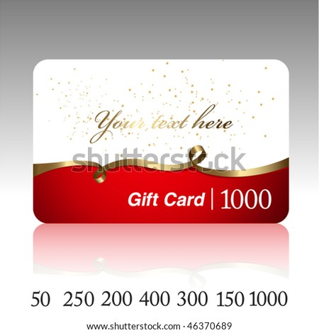 Beautiful gift card. Vector. - stock vector