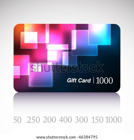 Beautiful gift card. Vector. - stock vector