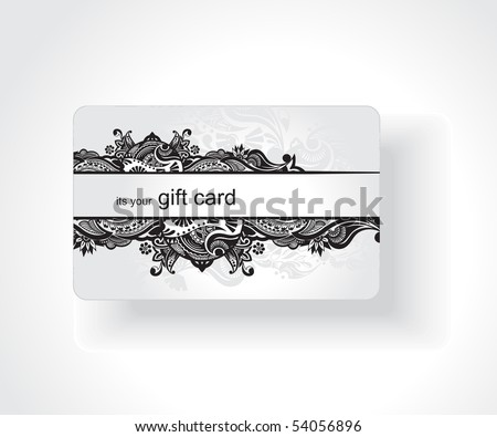 Beautiful gift card, vector illustration. - stock vector
