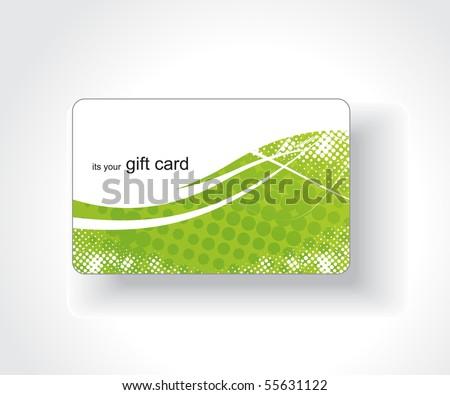 Beautiful gift card, vector illustration. - stock vector