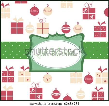 Beautiful gift card  vector illustration - stock vector