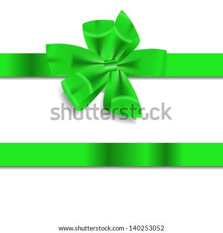 Beautiful Gift Ribbon . Vector illustration - stock vector