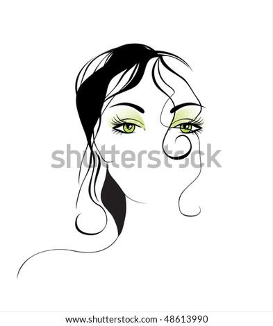 beautiful girl - stock vector