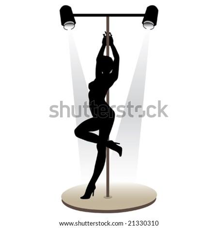 Beautiful girl striptease dancer vector illustration - stock vector