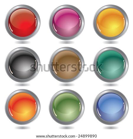 Beautiful glossy balls / vector illustration - stock vector