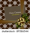 Beautiful gold vector Christmas card - stock vector