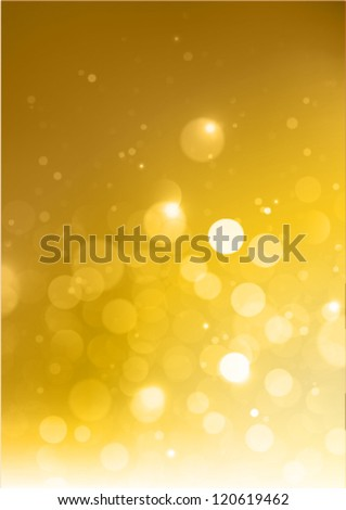 beautiful golden background (a4 size) - stock vector