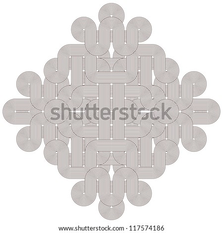 Beautiful graphic shape on white background. Vector illustration - stock vector