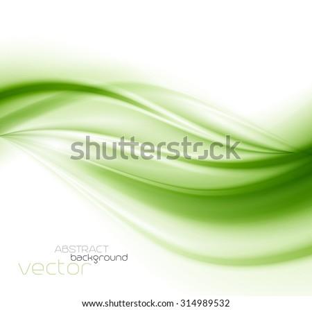 Beautiful Green Satin. Drapery Background, Vector Illustration - stock vector