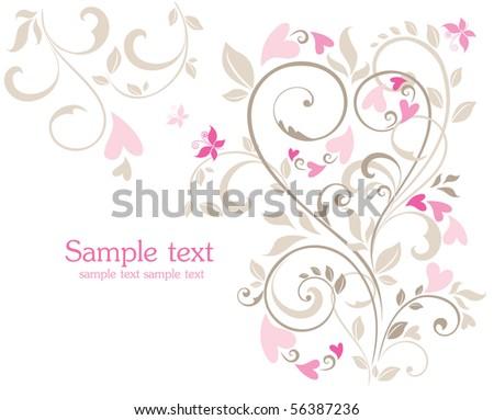 Beautiful greeting card - stock vector