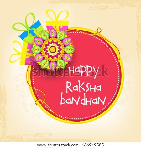 Beautiful greeting cardfor festival raksha bandhan stock vector beautiful greeting cardfor festival of raksha bandhan celebration m4hsunfo