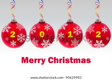 Beautiful greeting card of Merry Christmas 2012