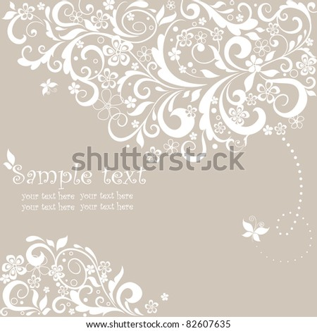 Beautiful greeting pastel card - stock vector