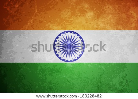 beautiful grunge textured flag design of India. vector illustration