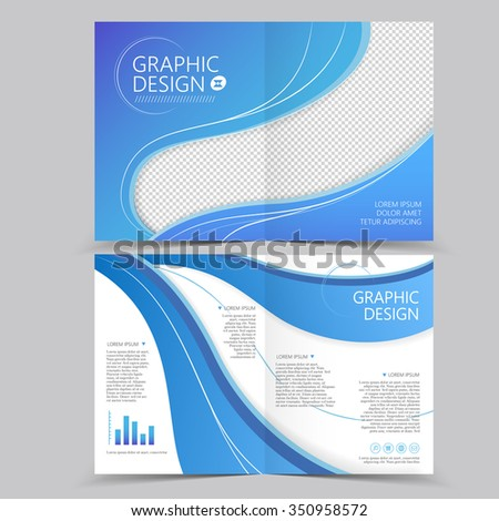 Presentation posterflyer design content background for Half fold brochure template