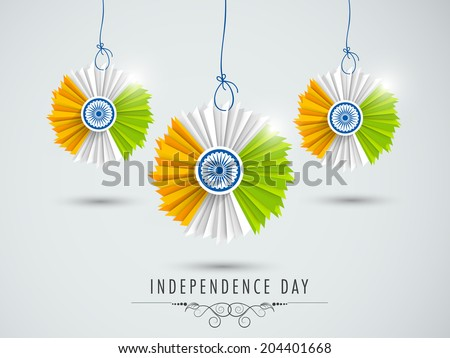 Beautiful hanging decorative indian national flag stock for 15th august independence day decoration ideas
