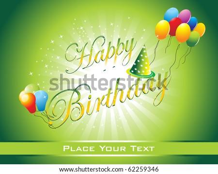 beautiful happy birthday background illustration - stock vector