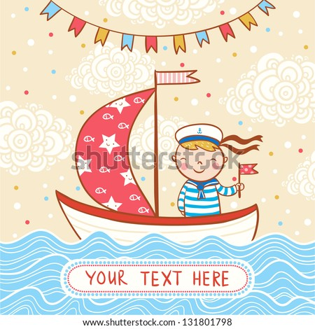 Beautiful Happy Birthday Greeting Card Boy Vector 131801798 – Birthday Card for Boy