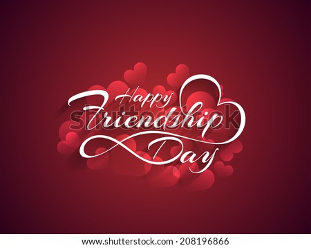 Beautiful happy friendship day background design. vector illustration