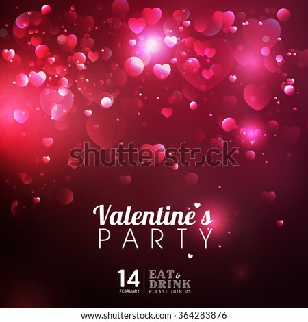 Beautiful Happy love Valentines Day Abstract background - stock vector
