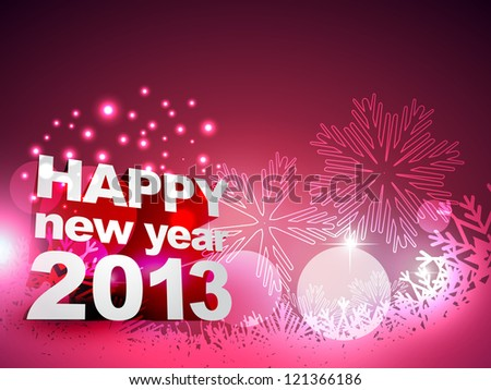 beautiful happy new year vector design art - stock vector