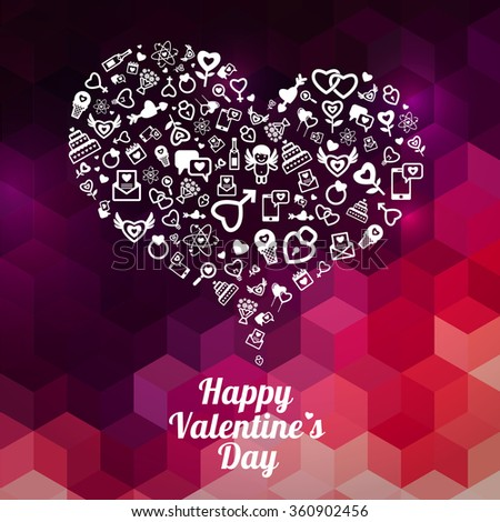 Beautiful Happy Valentines Day Abstract background concept