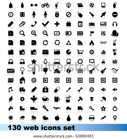 Beautiful icons set - stock vector