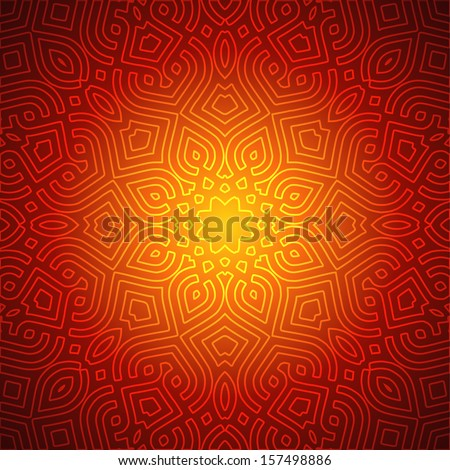 Beautiful Indian Pattern Design - stock vector