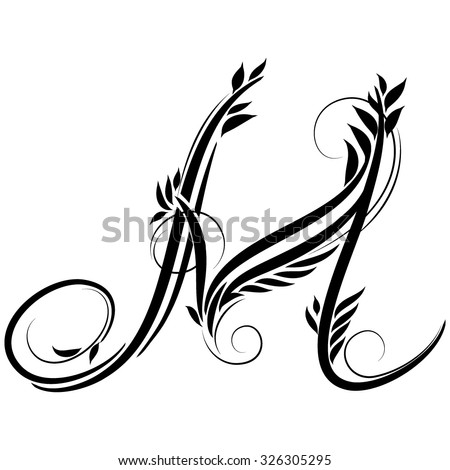 Beautiful Letters Monogram Decoration The Graphic Symbol Alphabet Forest Style