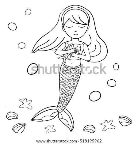 Graphic Doodle Black White Line Drawing Stock Vector