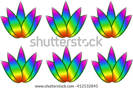 Beautiful Lotus Flower Color Wheel