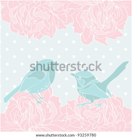 Beautiful love card template Could be used as an invitation too - stock vector