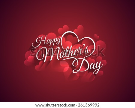 Beautiful mother's day Background design. - stock vector