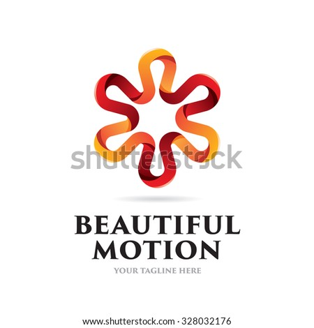 Beautiful Motion Icon Logo