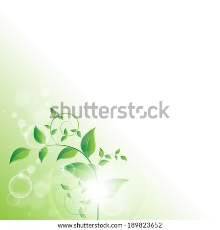 beautiful nature background - stock vector