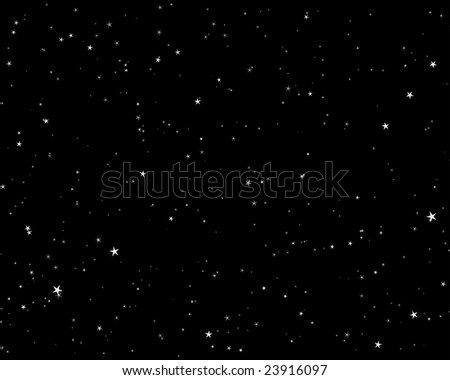 Beautiful night starry sky background . Vector illustration. - stock vector