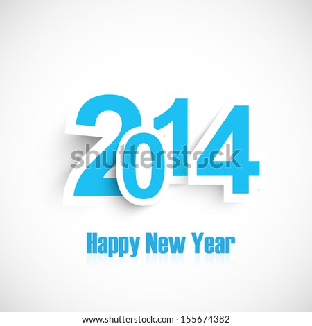 Beautiful number and new year 2014 design vector