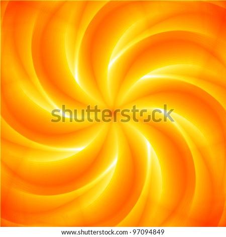 beautiful orange swirl background - stock vector